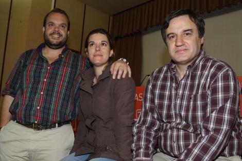 Luis de Vega, Mónica García Prieto y Eugenio García Gascón. | R. Blanco