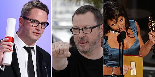 Winding Refn y Von Trier, en Cannes, y Biel al recoger su Oscar. | Afp | Ap | Afp
