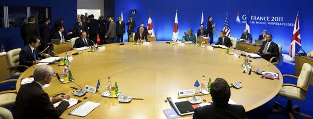 Reunión de los líderes del G8 en Francia.   Reuters