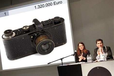 Fotografía de la marca Leica subastada. .| Efe