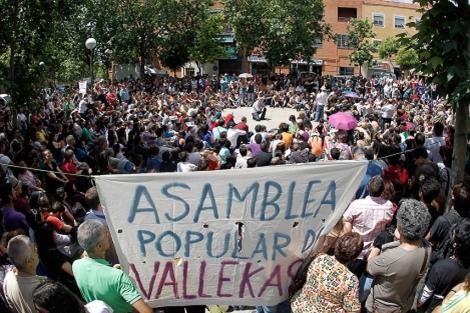 Asamblea popular celebrada en Vallecas. | Foto: A. DiLolli