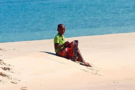 Una niña mozambiqueña.
