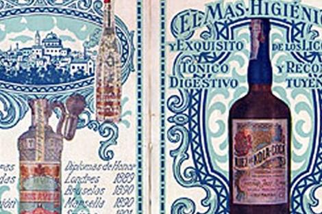 Botella de la Nuez de Cola-Coca originaria de Aielo.