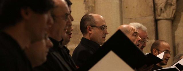 El Coro de Cámara de Madrid la semana pasada en Segovia, en un concierto del Proyecto Victoria.   R. Blanco