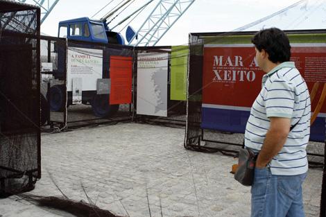 Momento de la exposición 'Mar ao xeito', en Vigo. | A.G.