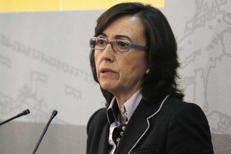 Rosa Aguilar, en una rueda de prensa por la crisis del pepino, la semana pasada. | Efe