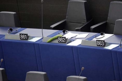 El pepino que ha llevado al pleno el eurodiputado Sosa Wagner.| Efe