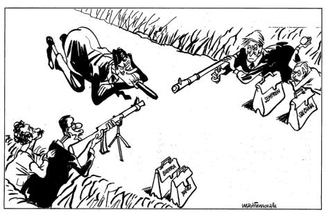 Viñeta de Martiinmorales, publicada en EL MUNDO, el 14 de agosto de 1990.