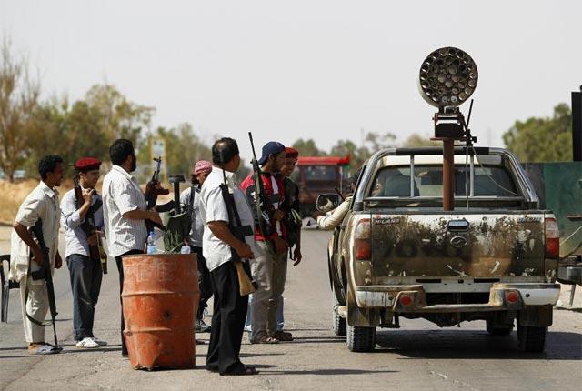 Rebeldes libios cerca de Misrata.   Reuters