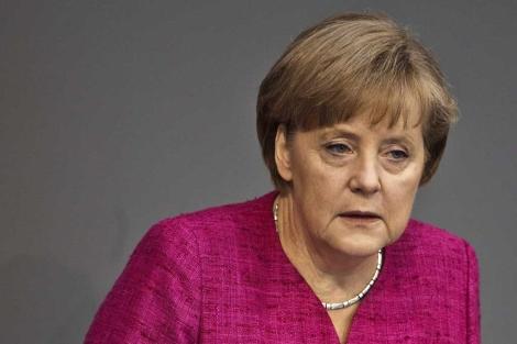 Merkel, este jueves en el Parlamento alemán. | Efe