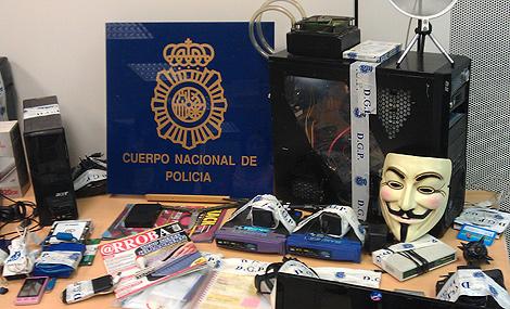 Material incautado a los detenidos   Alberto Gago