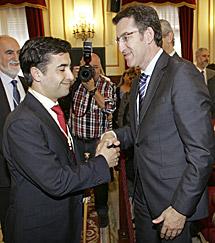 Rey Varela y Núñez Feijóo. | Efe