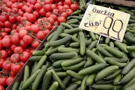 Puesto de hortalizas en un mercado de Berlín. | AP