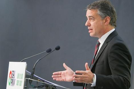 Iñigo Urkullu durante una rueda de prensa en Bilbao. | Mitxi