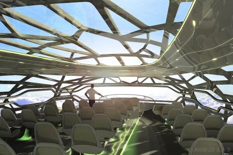 Prototipo de avión para el futuro presentado en Londres por la compañía Airbus. | Efe