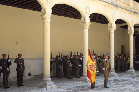 Uno de los actos conmemorativos del día de la Cuarta Subinspección. | Ical