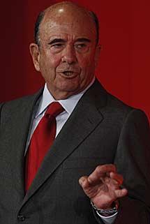 Emilio Botín, presidente del Santander. | Javier Barbancho