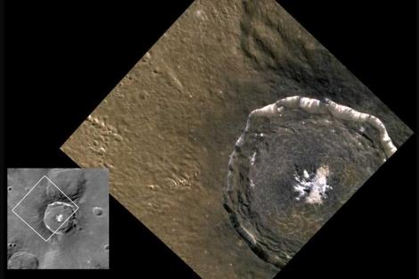 Detalle del cráter Degas, de 52 km. de diámetro. | NASA