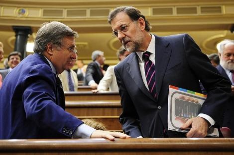 Rajoy, el pasado jueves en el Congreso de los Diputados. | Bernardo Díaz