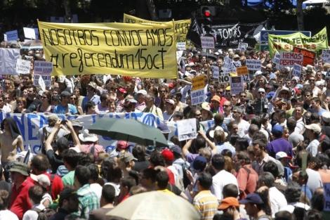Indignados concentracion Plaza de Neptuno. | Sergio González