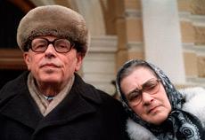 Sajarov y Bonner, en 1987. | Afp