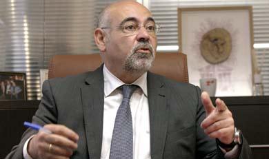 José Antonio Pastor, en un momento de la entrevista. | Efe