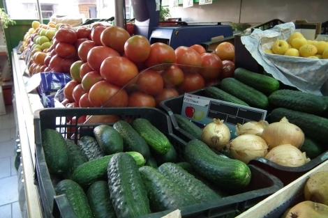 Verduras en un mercado de Jaén.   M. Cuevas