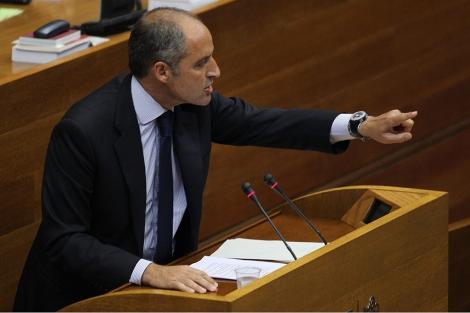 Francisco Camps, durante el discurso de Investidura. | V. Bosch