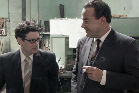 Escena de la cinta, con Manu Regueiro en el papel de Eduardo Barreiros (dcha.). | Continental