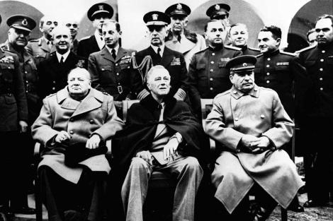 Reunión de los aliados en Yalta tras el final de la II Guerra Mundial.