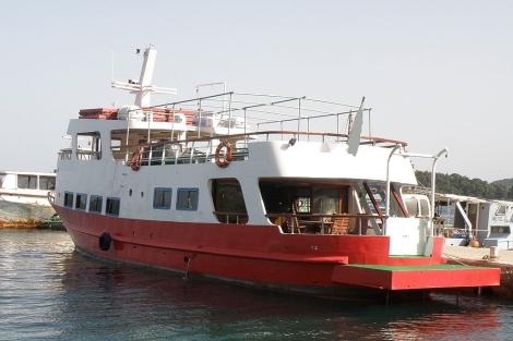 'Gernika' es la embarcación en la que partirán los activistas españoles en la Flotilla.