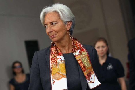 Lagarde ha estado hablando con altos cargos del FMI en WAshington. | Afp