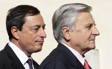 Mario Draghi y Jean Claude-Trichet. | Reuters