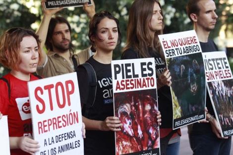 Manifestación en Madrid en apoyo de los detenidos en Galicia. | Chema Moya
