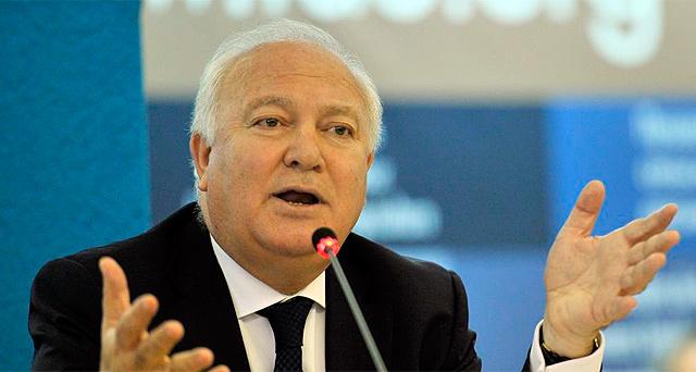 Moratinos, durante una conferencia.   Afp