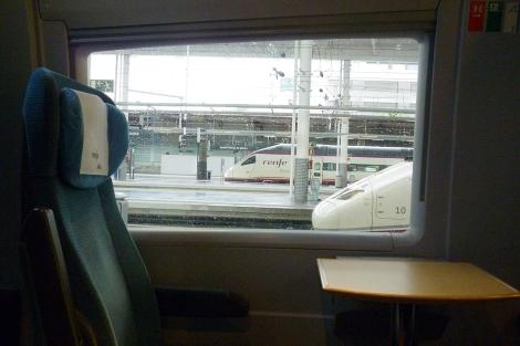 Imagen de un asiento de AVE vacío.