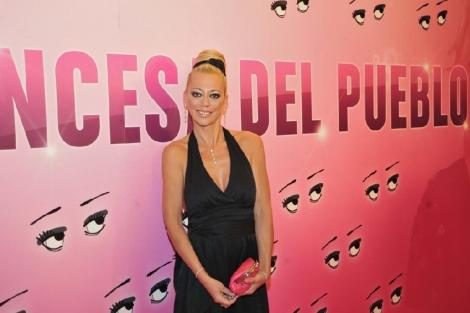 Belén Esteban, en la presentación del documental biográfico 'La princesa del pueblo'. (Foto: EFE)