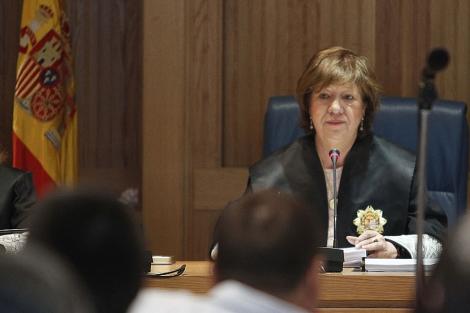 La juez, durante el proceso. | Efe