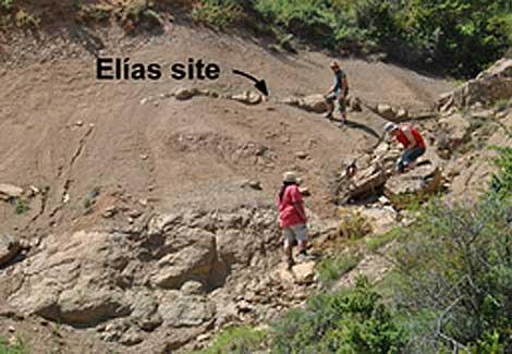 El yacimiento de Arén (Huesca) donde fue encontrado el cráneo. | Universidad de Zaragoza.