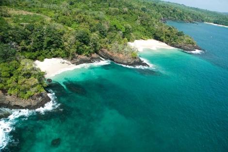Vista aérea de Isla San José, en el archipiélago panameño de Las Perlas. | EWN