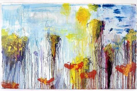 'Lepanto VII', una de las obras de Twombly expuestas en el Prado en 2008.