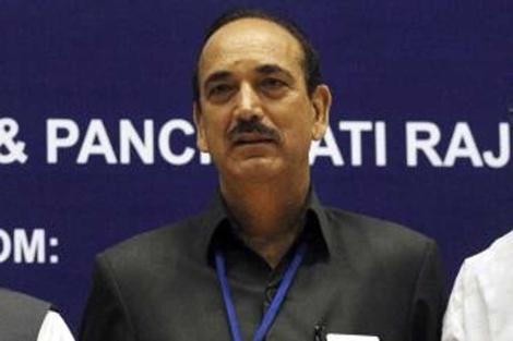 Ghulam Nabi Azad durante la convención nacional sobre el sida en Nueva Delhi. | Efe