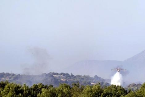 Incendio forestal declarado en Maria de la Salut | Efe