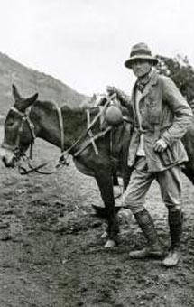 Hiram Bingham en Machu Pichu