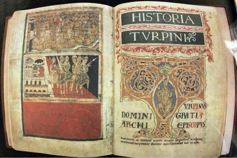 Edición facsímil del Códice Calixtino, expuesta en una sala de la catedral de Santiago. | Efe