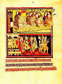 Peregrinaje de Carlomagno a Santiago.