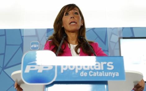 Sánchez-Camacho comunica los detalles del pacto alcanzado. | Domènec Umbert