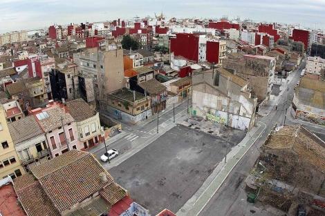 Vista aérea del barrio de El Cabanyal de Valencia. | José Cuéllar