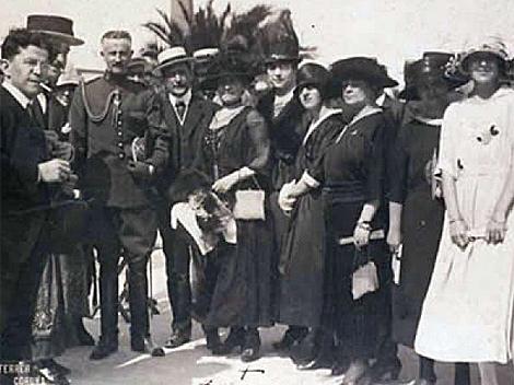 Homenaje a Sofía Casanova en el Sporting Club de La Coruña en 1919. | RAG