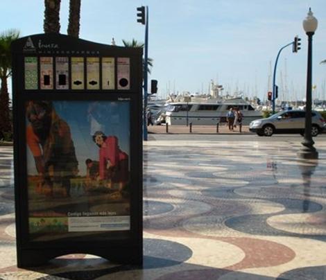 Uno de los contendores instalados en Alicante.